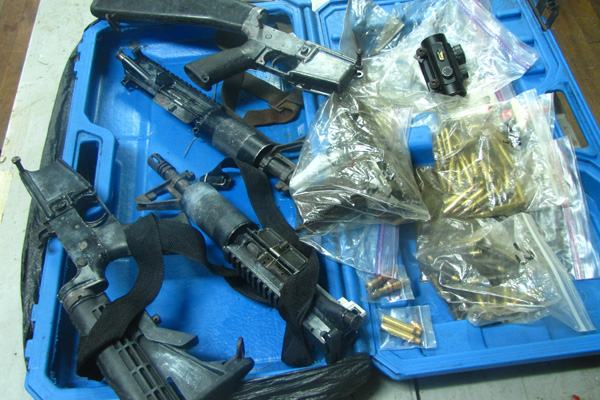 Fire Arms and Ammunition Seizure