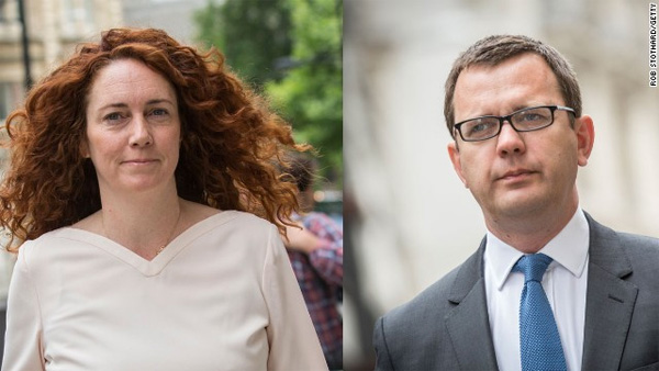 Andy Coulson found guilty in phone hacking trial; Rebekah Brooks cleared