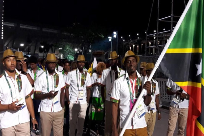 Captain Antoine Adams Leads Olympic Team SKN at the Rio 2016 Opening Ceremony