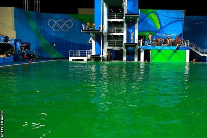 Rio 2016: 'I've never dived in anything like it' – Olympic pool turns green