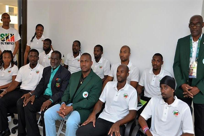 SKNOC welcomes St. Kitts and Nevis Deputy PM and Minister of Sport at Rio 2016 Olympic Village