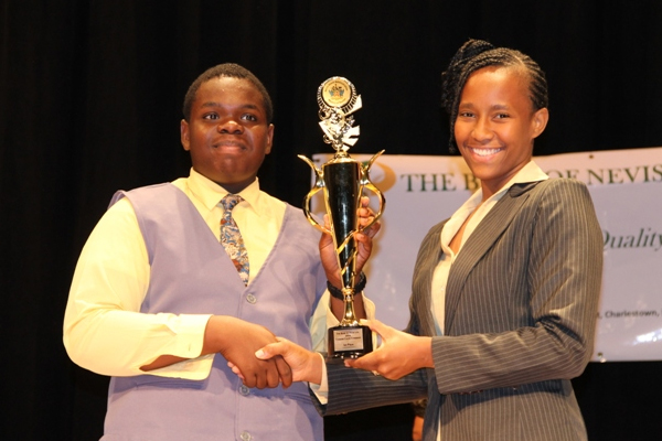 Gingerland Secondary School student is Nevis' 2014 Junior Minister of Tourism