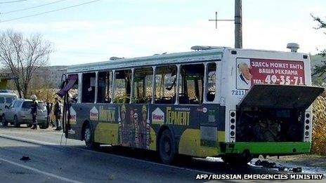 Russia bus bomb: Volgograd blast kills five