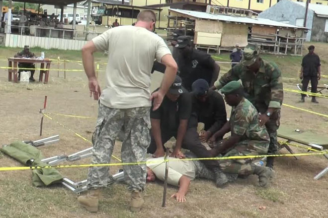 St. Kitts and Nevis Defence Force Holds Simulation Exercise