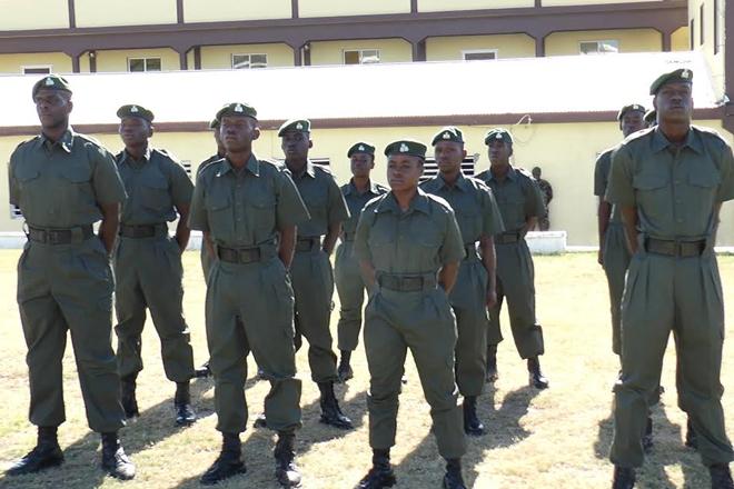 SKN Defence Force awards striving recruits
