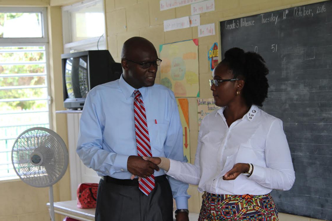 Permanent Secretary In Education Pays Courtesy Call On Nevis