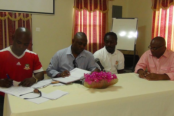 SKNFA hosts Press Conference in Nevis