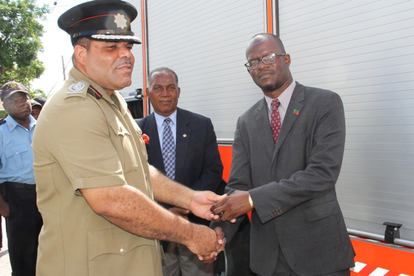St. Kitts-Nevis Fire and Rescue Services Nevis Division get new fire tender