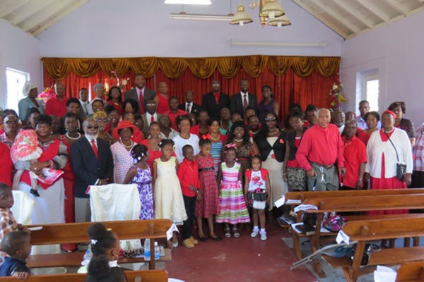 Scores of constituents and Labour supporters attend church in Challengers