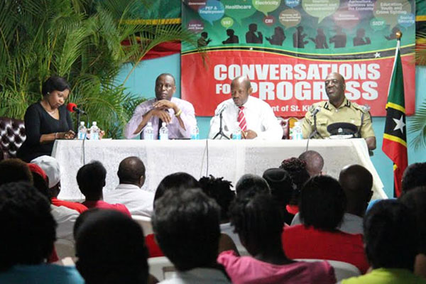 PM Douglas peps up PEP at Conversations for Progress forum