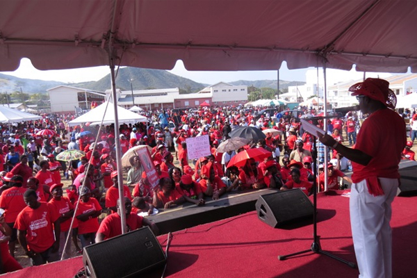 PM Douglas assures thousands the Labour Movement will never die