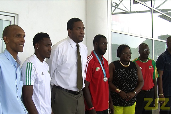 Athletes return home to a warm Reception