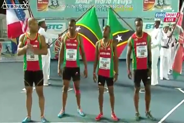 SKN takes silver at World Relays