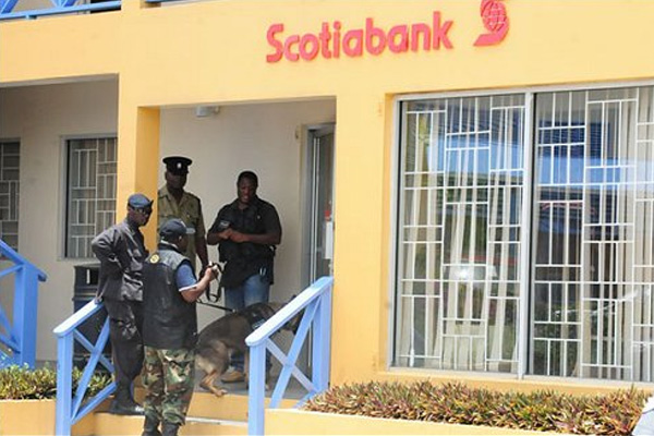 Scotia Bank Robbed in Broad Daylight