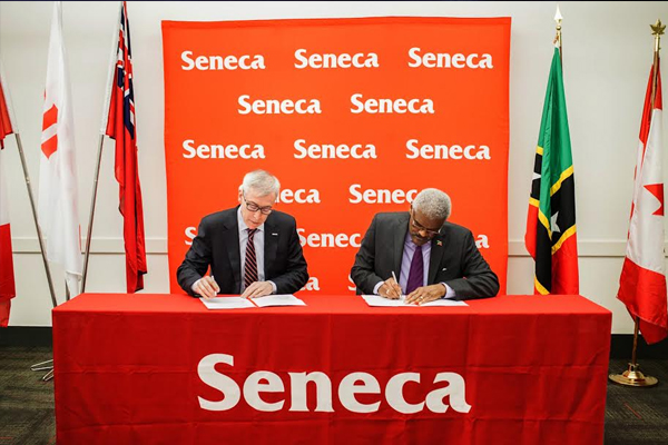 Toronto-based Seneca College and St. Kitts and Nevis sign MOU to work together to provide education and training