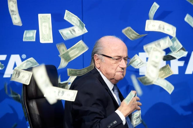 Blatter news conference at FIFA delayed by British comedian