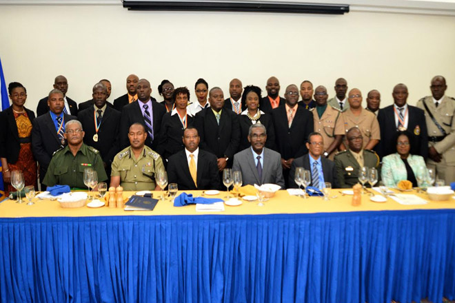 Seven 'SKN' Law Enforcement Professionals complete RSS Staff and Command Course