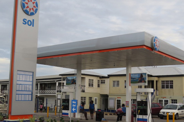 Gasoline at the SOL pumps in St. Kitts continues on downward trend
