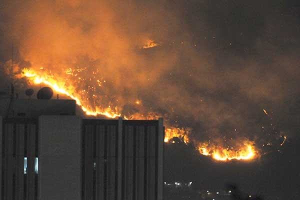 St Andrew hillside fire under control — Fire Brigade