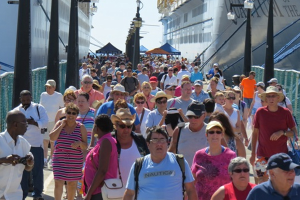 Four cruise ships with over 8,000 passengers visit St. Kitts on Monday