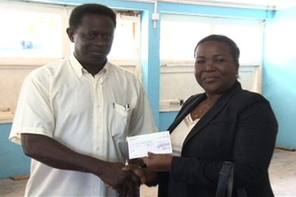 UK-based St. Kitts/Nevis & Friends Association makes donation to Charlestown Secondary School