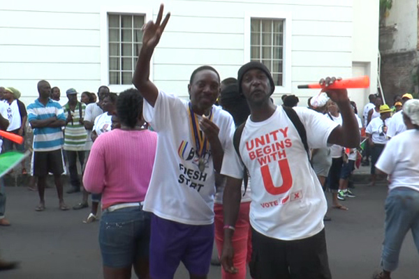 Team Unity's Supporters Celebrate