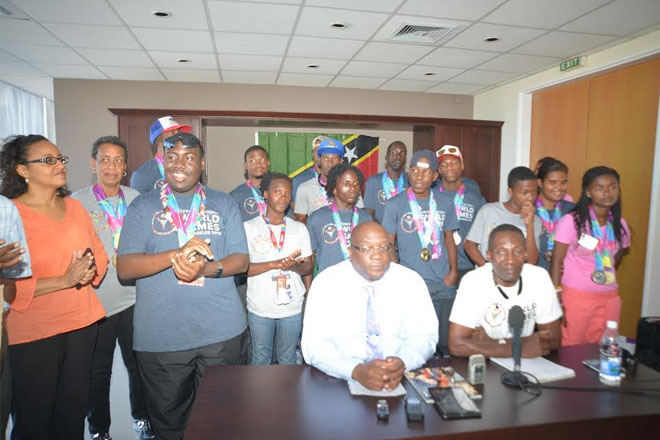 PM Harris welcomes SKN's record breaking Special Olympians