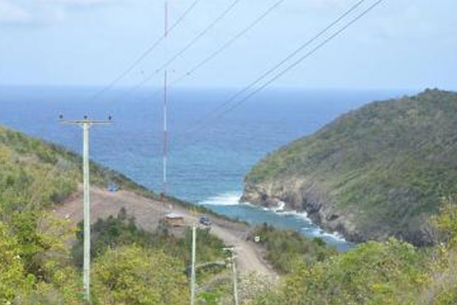 St Lucia installs test tower for potential wind farm