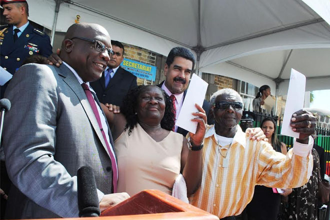 Prime Minister Harris and President Maduro are cooperating for our good, says former sugar worker Vivian Hope