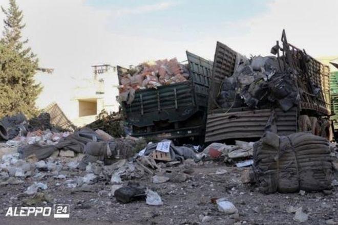 Syria conflict: UN suspends all aid after convoy hit