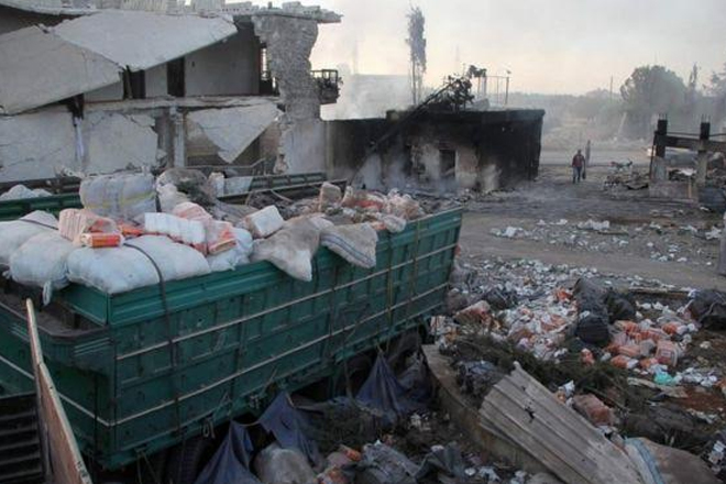 Syria conflict: Aid convoy attack was air strike, UN expert says