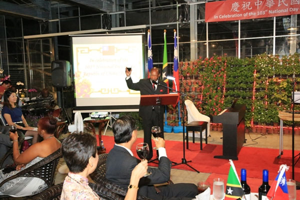 PM Douglas toasts Taiwan's 103rd National Day at St. Kitts Eco-Park