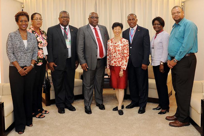 Prime Minister Harris' delegation wraps up official visit with call on Minister responsible for China-Taiwan relations