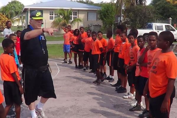 Basketball Coach Visits Nevis