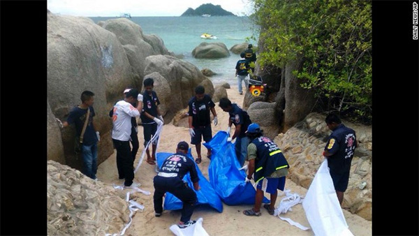 British man, woman found dead on Thai beach