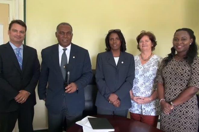 The Nature Conservancy team meets with Nevis Premier