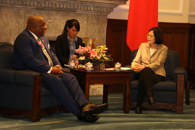 Prime Minister Harris' delegation pays courtesy call on President of ROC (Taiwan) Dr. Tsai Ing-Wen