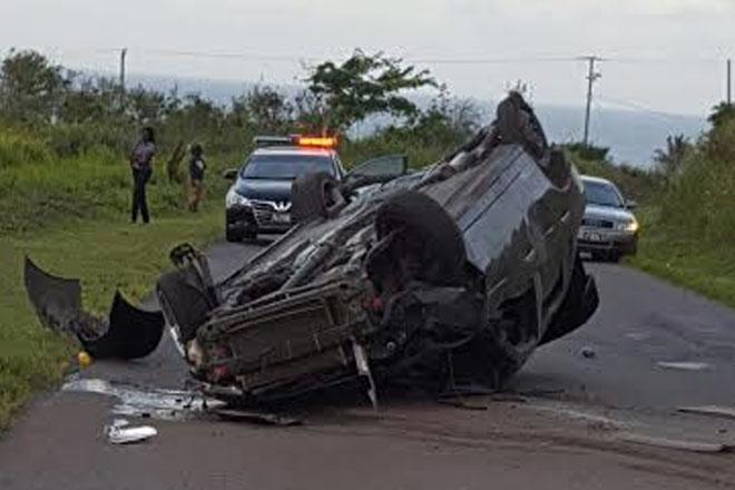 Car accident near Keys