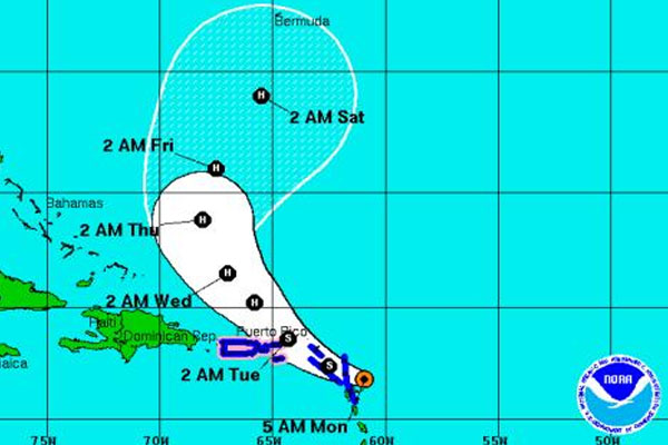Hurricane watch issued for Puerto Rico, Virgin Islands