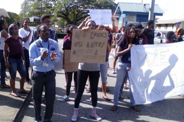 UWI students block entry to St Augustine campus