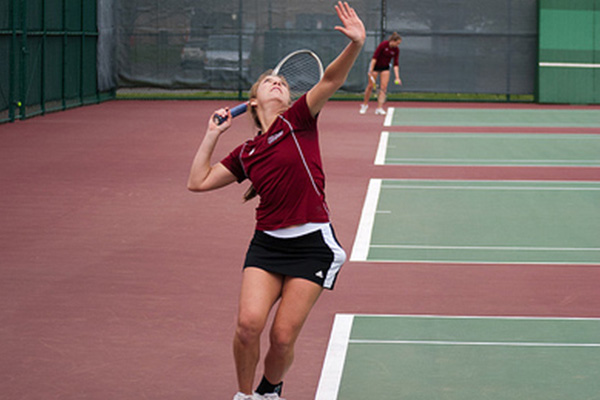 Podlofsky Ties Singles Record In Tennis' 6-1 Win Over Bryant