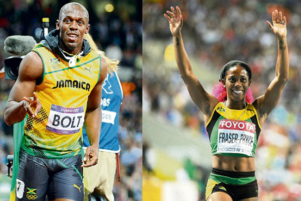 Dynamic Duo: Bolt and Shelley-Ann, RJR Sportsman and Sportswoman of the Year