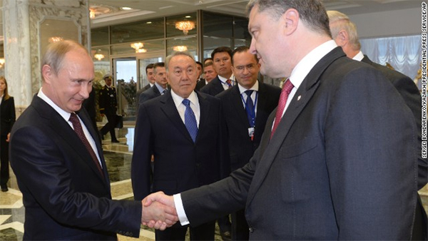 Ukraine's President urges 'resolute actions' to bring peace