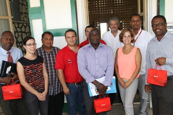 Venezuelan delegation visits Nevis; explore use of renewable energy in government owned high schools