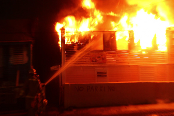 Fire Destroys Home At Victoria Road