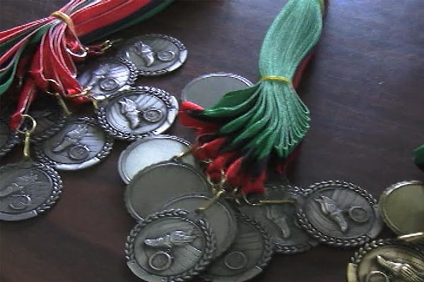 Medals for Violet Petty students