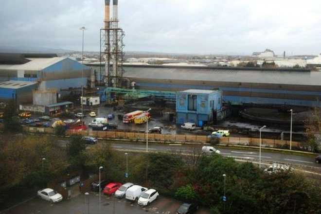 Cardiff steelworks explosion: Two dead and five injured