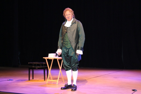 World renowned Alexander Hamilton impersonator visits Nevis