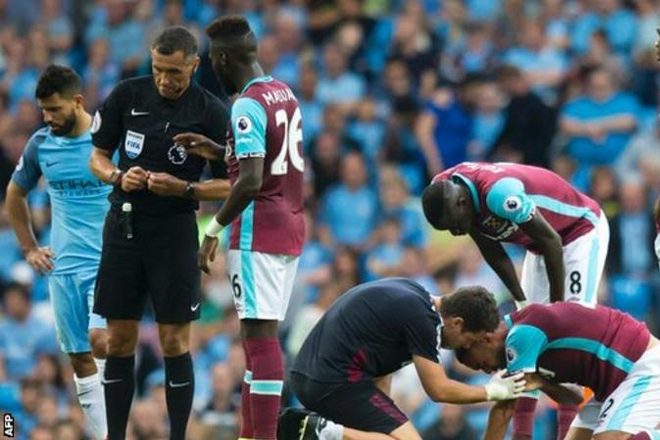 Sergio Aguero: Man City contest FA violent conduct charge for Winston Reid elbow