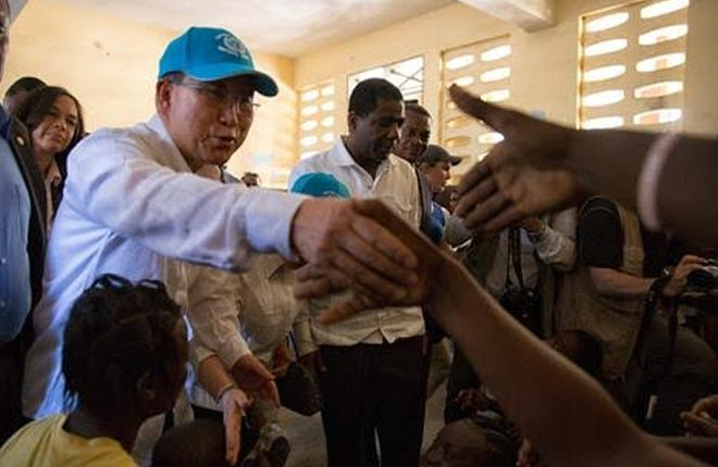 UN secretary general visits Haiti in aftermath of hurricane